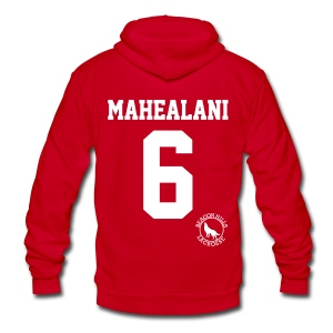 MAHEALANI 6 - Zip-up (S Logo) - Unisex Fleece Zip Hoodie by American Apparel