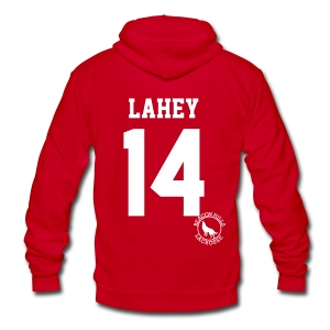 LAHEY 14 - Zip-up (S Logo) - Unisex Fleece Zip Hoodie by American Apparel