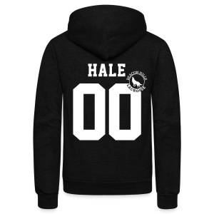 HALE 00 - Zip-up (S Logo) - Unisex Fleece Zip Hoodie by American Apparel