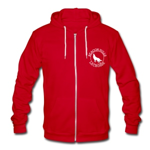 Beacon Hills Lacrosse - Zip-up (S Logo) - Unisex Fleece Zip Hoodie by American Apparel