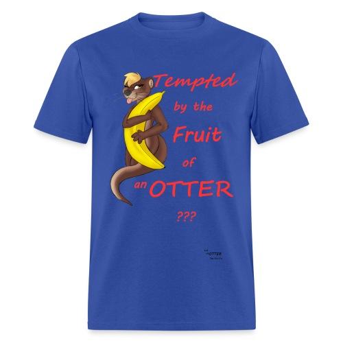 Tempting Otter (Banana)-Blue - Men's T-Shirt