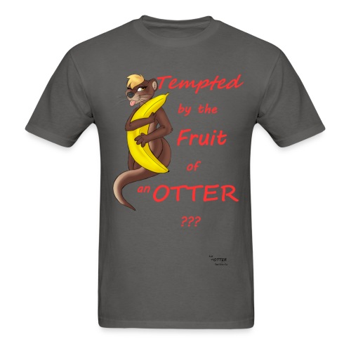 Tempting Otter (Banana)-Grey - Men's T-Shirt