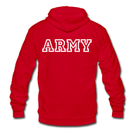 Zip Hoodies & Jackets ~ Unisex Fleece Zip Hoodie by American Apparel ~ ARMY Zip Up Hoodie