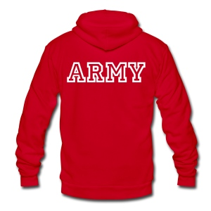 ARMY Zip Up Hoodie - Unisex Fleece Zip Hoodie by American Apparel