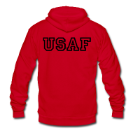 Zip Hoodies & Jackets ~ Unisex Fleece Zip Hoodie by American Apparel ~ USAF Zip Up Hoodie
