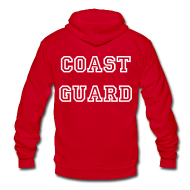 Zip Hoodies & Jackets ~ Unisex Fleece Zip Hoodie by American Apparel ~ Coast Guard Zip Up Hoodie