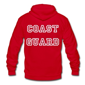 Coast Guard Zip Up Hoodie - Unisex Fleece Zip Hoodie by American Apparel