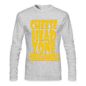Cheesehead Zone Shhh - Men's Long Sleeve T-Shirt by Next Level