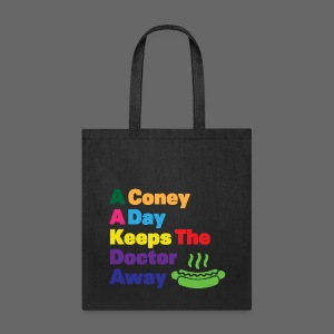 A Coney A Day Keeps Doctor Away - Tote Bag