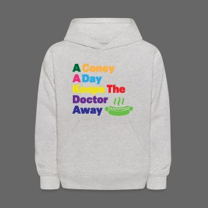 A Coney A Day Keeps Doctor Away - Kids' Hoodie