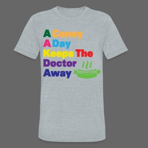 A Coney A Day Keeps Doctor Away - Unisex Tri-Blend T-Shirt