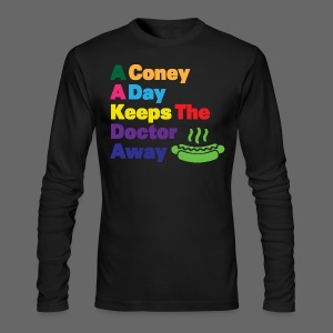 A Coney A Day Keeps Doctor Away - Men's Long Sleeve T-Shirt by Next Level