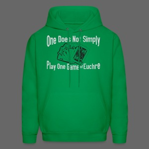 One Does Not Simply Play One Gamer of Euchre - Men's Hoodie