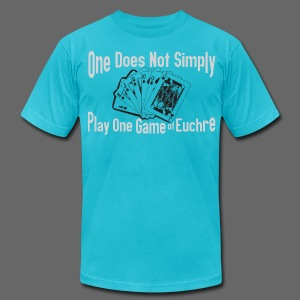 One Does Not Simply Play One Gamer of Euchre - Men's T-Shirt by American Apparel