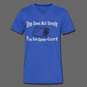 One Does Not Simply Play One Gamer of Euchre - Men's V-Neck T-Shirt by Canvas