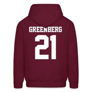 GREENBERG 21 - Hoodie (XL Logo, NBL) - Men's Hoodie