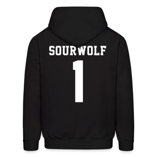 SOURWOLF 1 - Hoodie (XL Logo, NBL) - Men's Hoodie