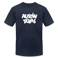 T-Shirts ~ Men's T-Shirt by American Apparel ~ Austin Texas T-Shirt