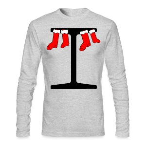 I-Beam Christmas Stockings - Men's Long Sleeve T-Shirt by Next Level