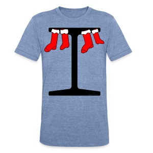 I-Beam Christmas Stockings - Unisex Tri-Blend T-Shirt by American Apparel