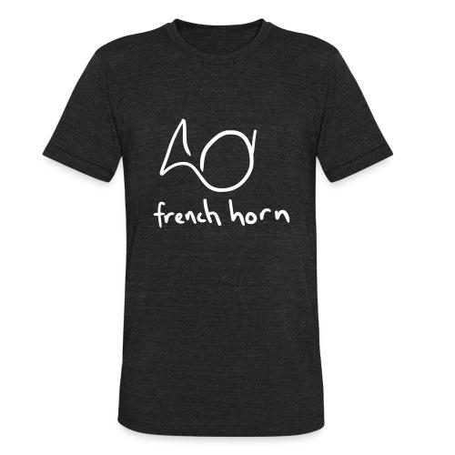 french horn (black tri-blend) - Unisex Tri-Blend T-Shirt