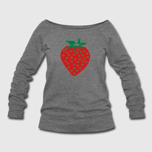 Strawberry Long Sleeve Shirts - Women's Wideneck Sweatshirt