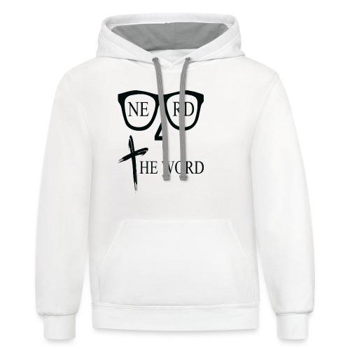 Nerd 4 The Word - Contrast Hoodie - Contrast Hoodie