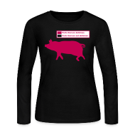 Long Sleeve Shirts ~ Women's Long Sleeve Jersey T-Shirt ~ Pig Butchering Guide - Women's Longsleeve