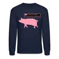 Long Sleeve Shirts ~ Men's Crewneck Sweatshirt ~ Pig Butchering Guide - Classic Sweatshirt
