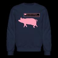 Long Sleeve Shirts ~ Crewneck Sweatshirt ~ Pig Butchering Guide - Classic Sweatshirt