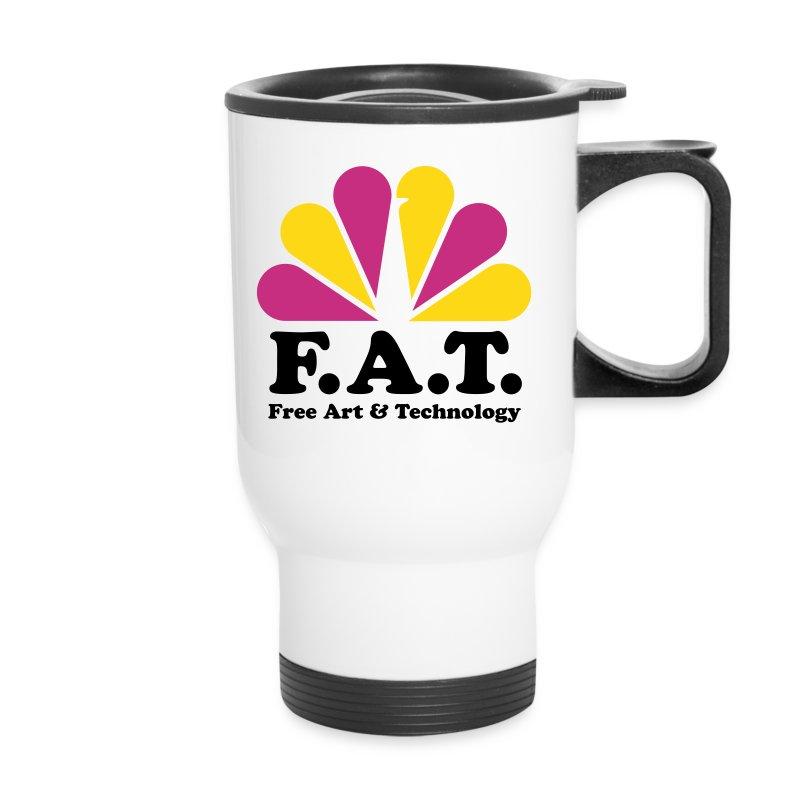 tshirtfatlogonbcvectoroutlinesai2_3layer - Travel Mug