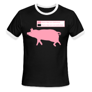 T-Shirts ~ Men's Ringer T-Shirt ~ Pig Butchering Guide - Ringer Tee - 2013 SALE!