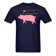 T-Shirts ~ Men's T-Shirt ~ Pig Butchering Guide - Men's Classic