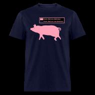 T-Shirts ~ Men's T-Shirt ~ Pig Butchering Guide - Men's Classic