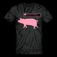 T-Shirts ~ Unisex Tie Dye T-Shirt ~ Pig Butchering Guide - Tie Dye