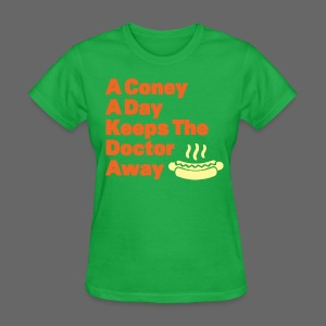 Detroit Coney Dog A Day Keeps Doctor Away  - Women's T-Shirt