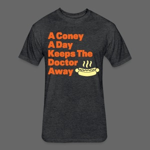 Detroit Coney Dog A Day Keeps Doctor Away  - Fitted Cotton/Poly T-Shirt by Next Level
