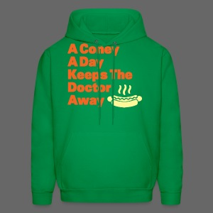 Detroit Coney Dog A Day Keeps Doctor Away  - Men's Hoodie