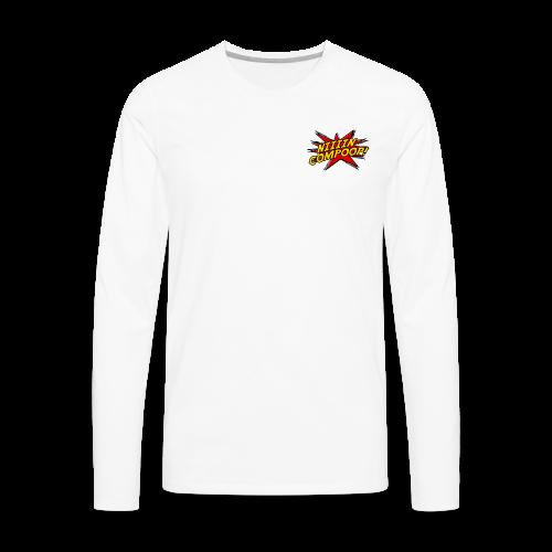 Logo Patch - Men's Premium Long Sleeve T-Shirt