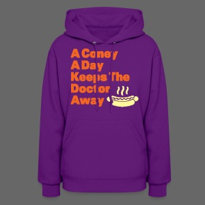 Detroit Coney Dog A Day Keeps Doctor Away  - Women's Hoodie