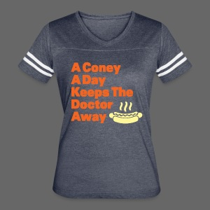 Detroit Coney Dog A Day Keeps Doctor Away  - Women's Vintage Sport T-Shirt