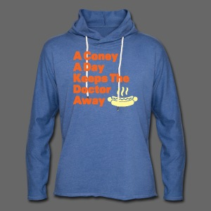 Detroit Coney Dog A Day Keeps Doctor Away  - Unisex Lightweight Terry Hoodie