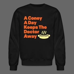 Detroit Coney Dog A Day Keeps Doctor Away  - Crewneck Sweatshirt