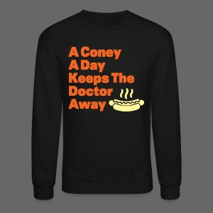 Detroit Coney Dog A Day Keeps Doctor Away  - Crewneck Sweatshirt