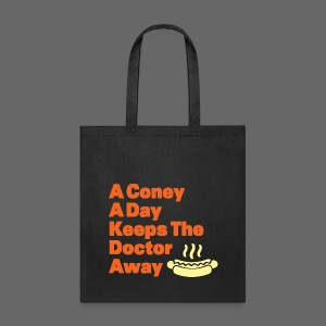 Detroit Coney Dog A Day Keeps Doctor Away  - Tote Bag