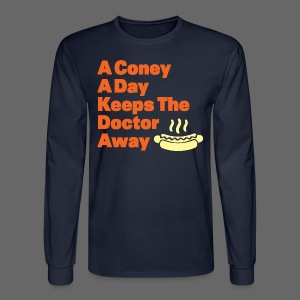 Detroit Coney Dog A Day Keeps Doctor Away  - Men's Long Sleeve T-Shirt