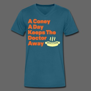 Detroit Coney Dog A Day Keeps Doctor Away  - Men's V-Neck T-Shirt by Canvas