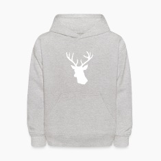 White Stag Deer Head Sweatshirts