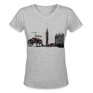 Taipei  T-Shirt - Women's V-Neck T-Shirt