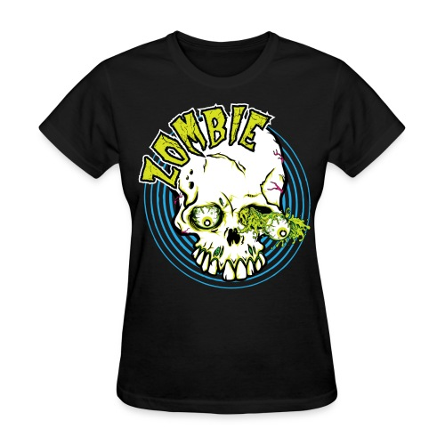 Zombie face - Zombie T-Shirt - Spreadshirt  - Women's T-Shirt